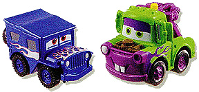 Mattel disney pixar cars mini adventures visual check for Sarge automobiles garage serus