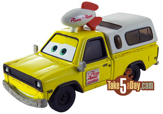 Mattel Disney Pixar Diecast CARS: Todd, Pizza Planet Truck – Brown ...