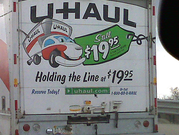 U Haul Logo. unused u-haul full of