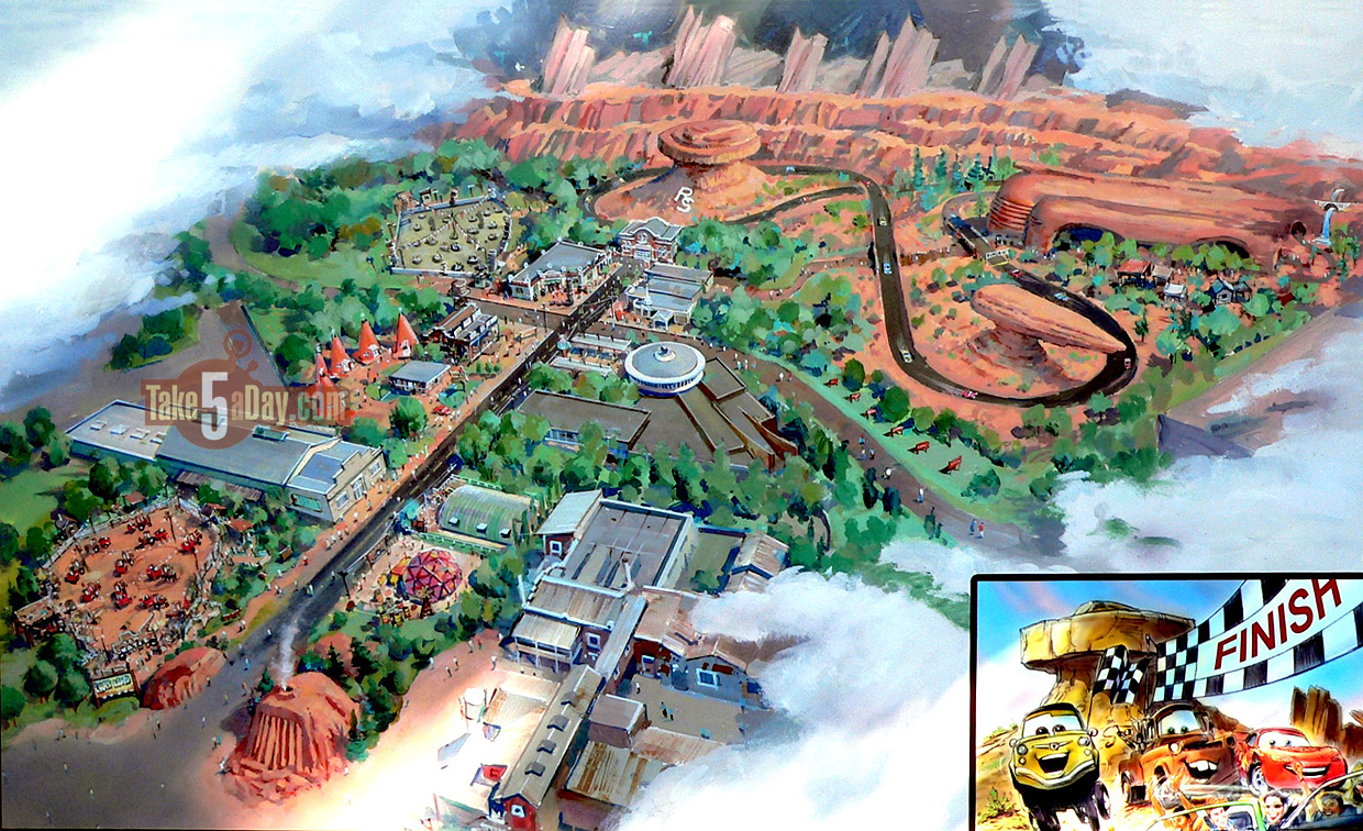 Disney Carsland map