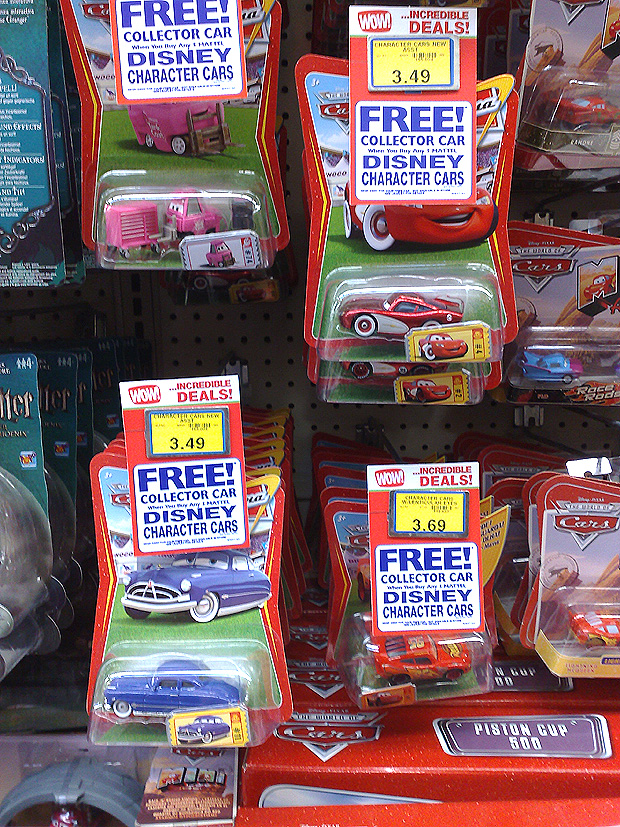 Mattel Disney Pixar Diecast Cars Uk Toys R Us Promo Up