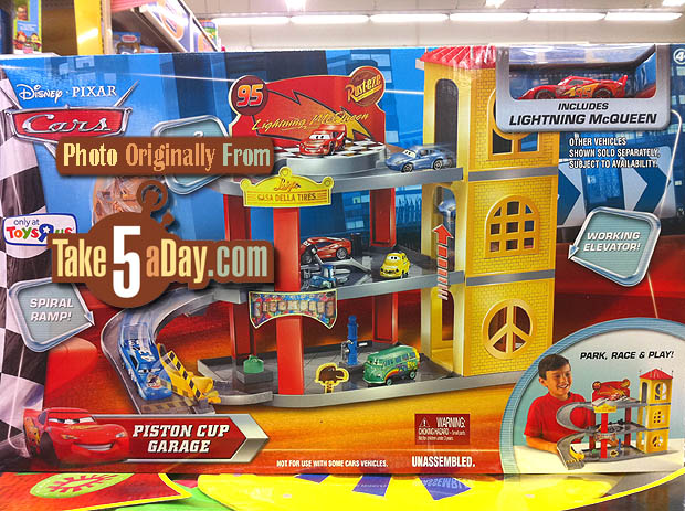 Mattel Disney Pixar Diecast Cars Piston Cup Garage Out