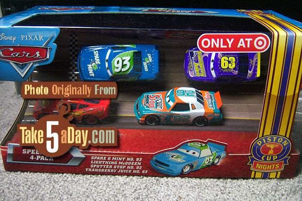 4 Pack Racers Speedway avec Transberry Juice Spare-o-mint