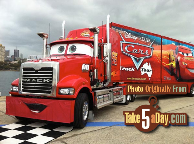 Disney Cars Truck Tour Australia