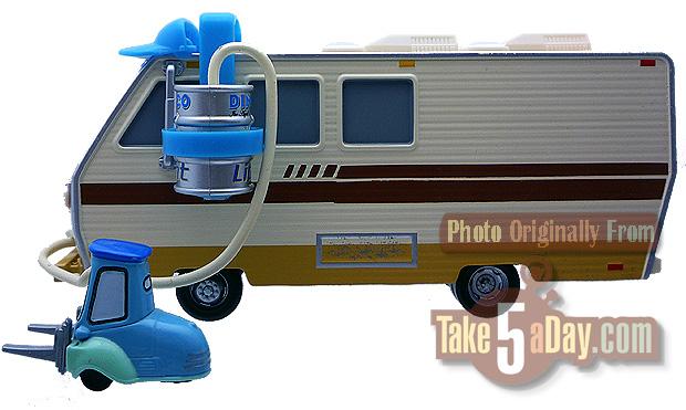 Mattel Disney Pixar Diecast Cars Barry Diesel Rv Drink