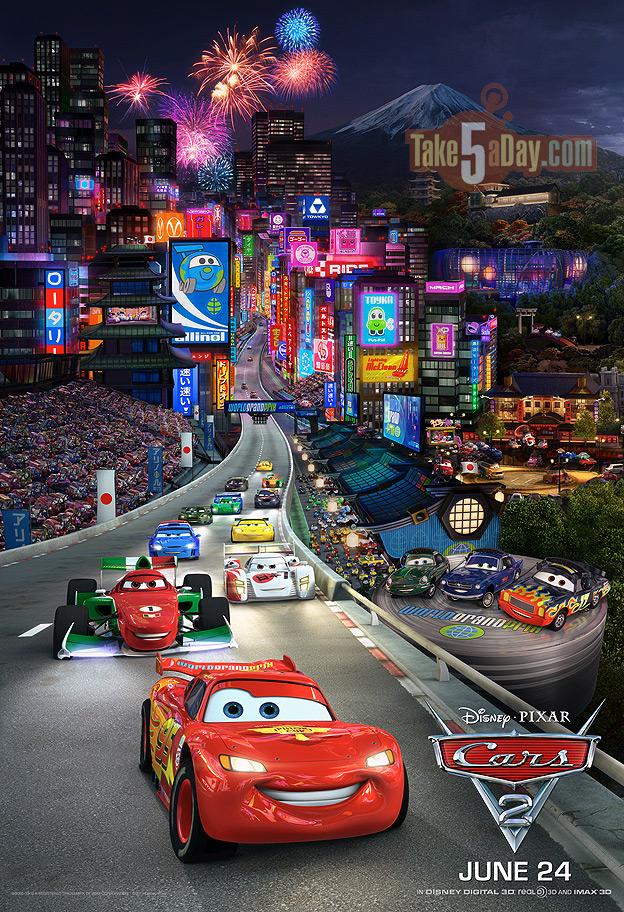 Cars 3 Characters Names >> Disney Pixar CARS 2: New Massive CARS 2 TripTych Poster ...