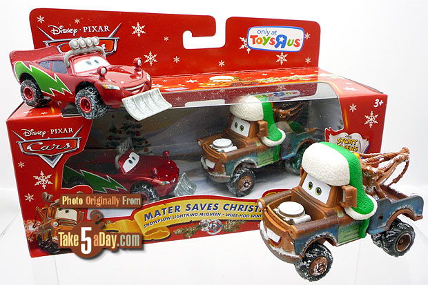 """Mattel Disney Pixar Diecast CARS: Mater Saves Christmas """"Repeat ..."""