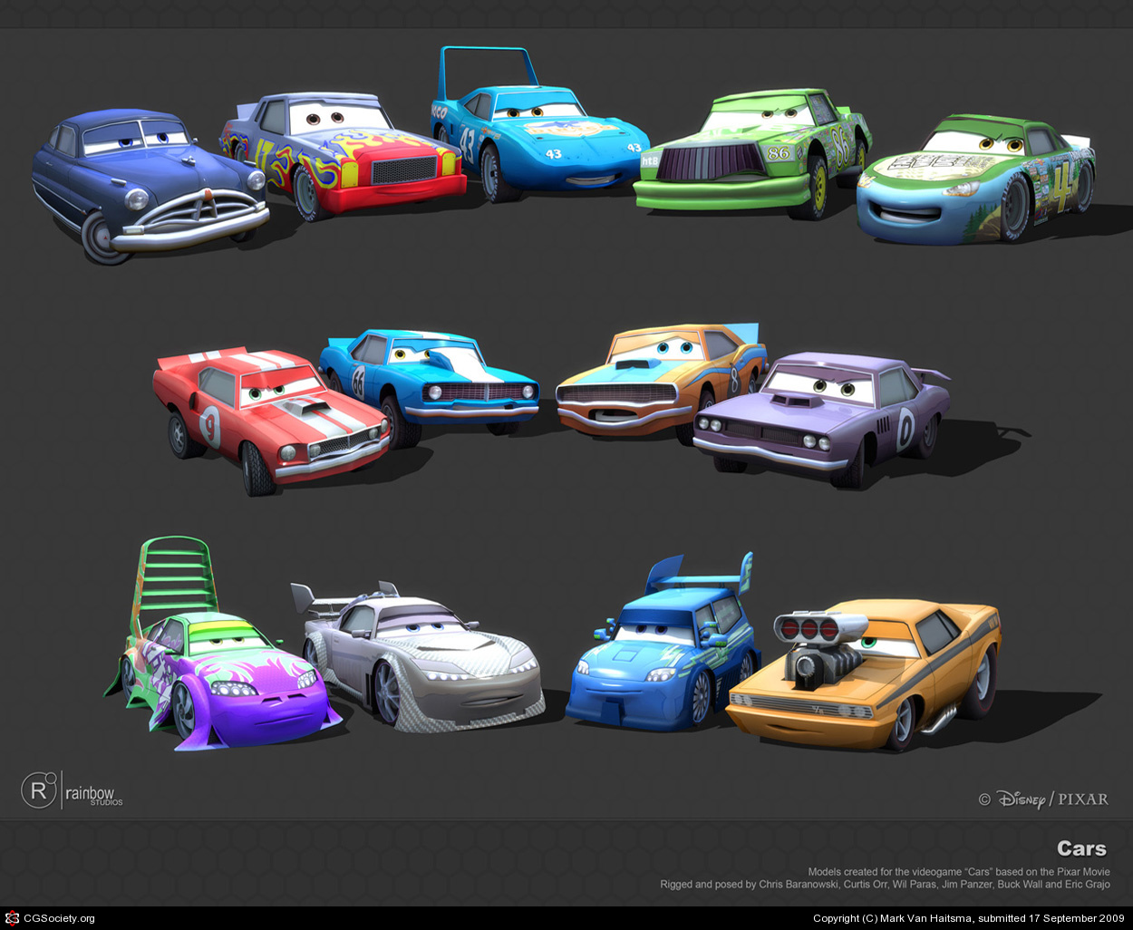 Cars Race O Rama All Characters