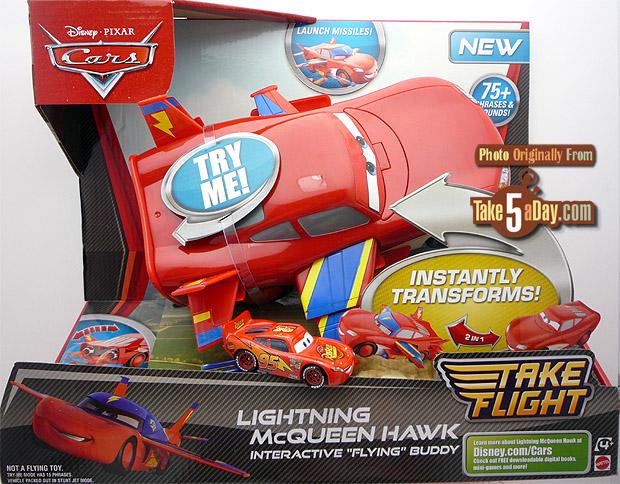 mattel disney pixar cars lightning mcqueen hawk winner real