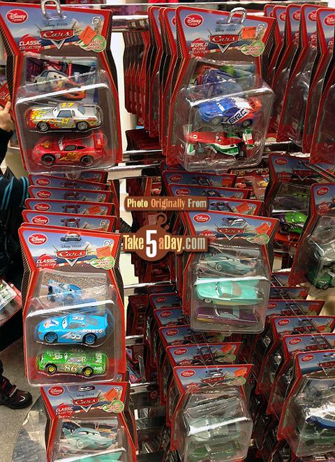 Disney Pixar CARS 2: France Disney Store | Take Five a Day