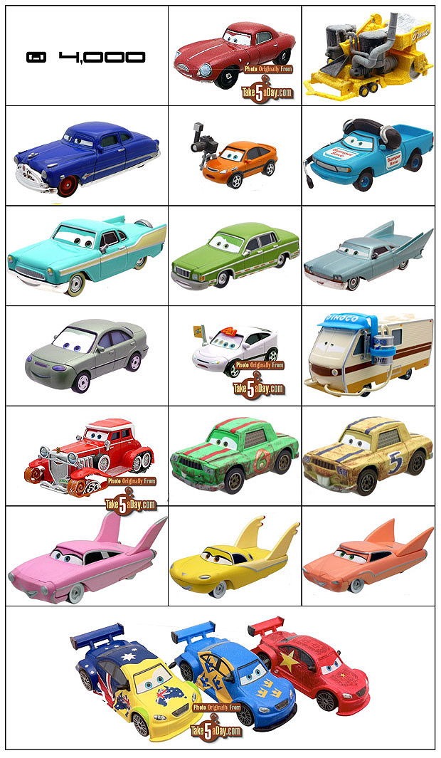 Mattel Disney Pixar CARS Diecast: The Rarest Production Diecasts ...