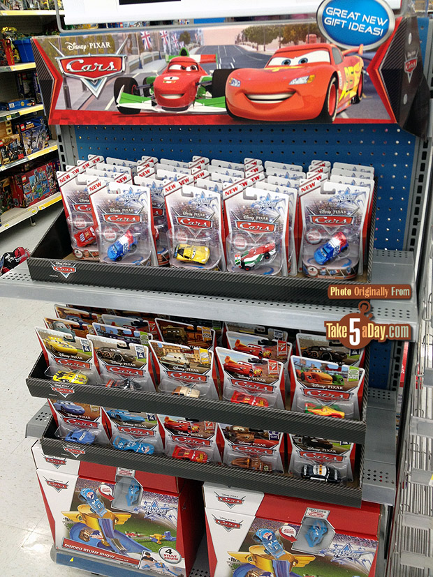 Toy Cars At Walmart : Mattel disney pixar cars diecast walmart endcap hydro