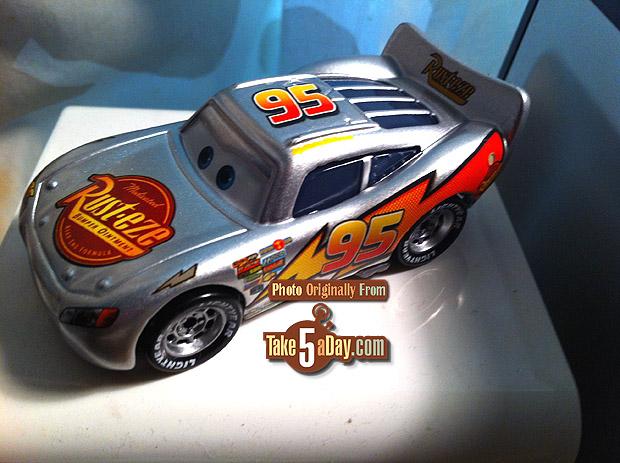 mattel disney pixar cars diecast kmart silver metallic lightning