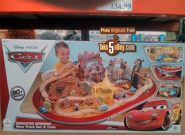 Disney Pixar Cars The Costco Wood Cars Radiator Springs Table