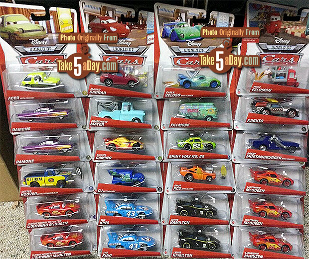 Mattel Disney Pixar CARS Diecast  Case V  The UK V Sign -  signs of cars with names