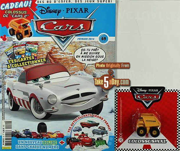 disney pixar cars magazine lives on europe cute bonus take five a day. Black Bedroom Furniture Sets. Home Design Ideas