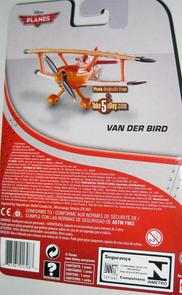van der bird card