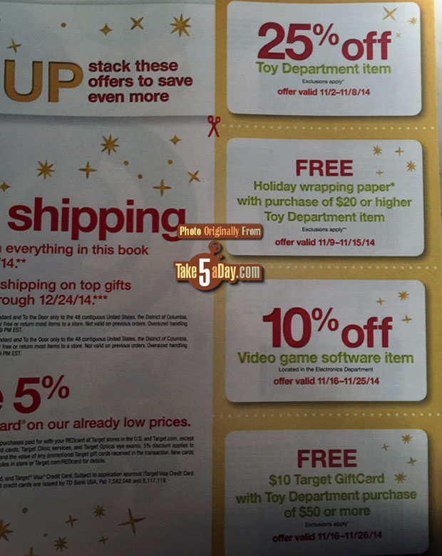 Target christmas coupon book