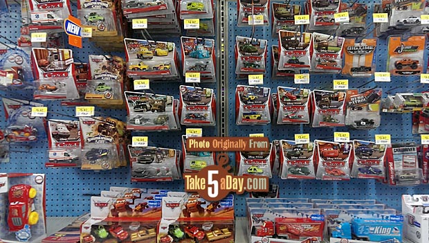 Toy Cars At Walmart : Mattel disney pixar cars the walmart peg shelf update