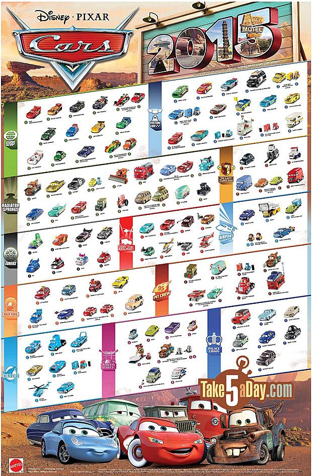 Mattel Disney pixar CARS 2015