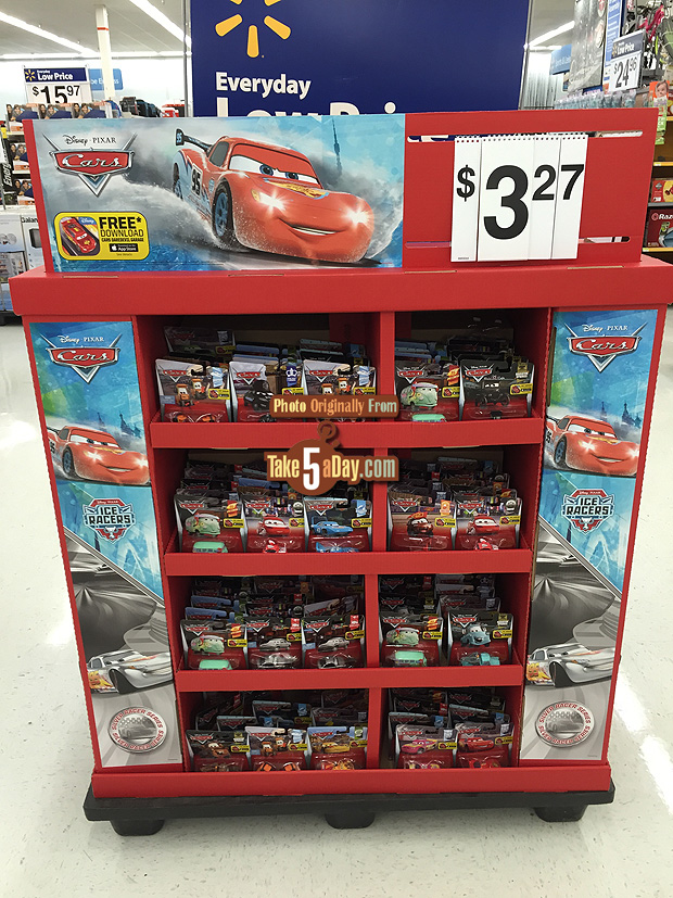 Toy Cars At Walmart : Mattel disney pixar cars new walmart floor display