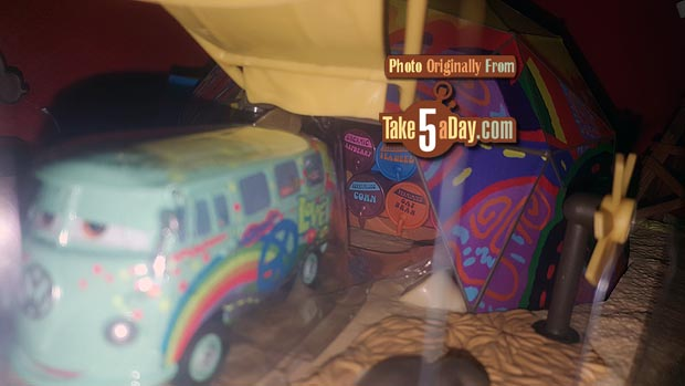 u201cI tried to show some of the details like the beads in the left door the funny car sign to the left of the tent the barrels in the tent etcu2026 & Mattel Disney Pixar CARS: Precision Series Fillmoreu0027s Taste-In ...