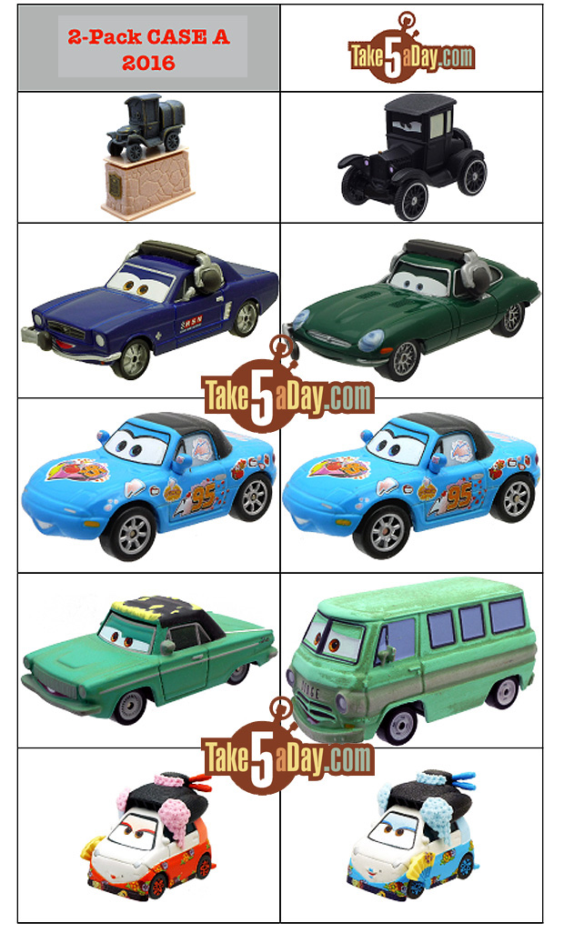 Mattel Disney Pixar CARS: 2016 2-Pack Diecasts | Take Five a Day