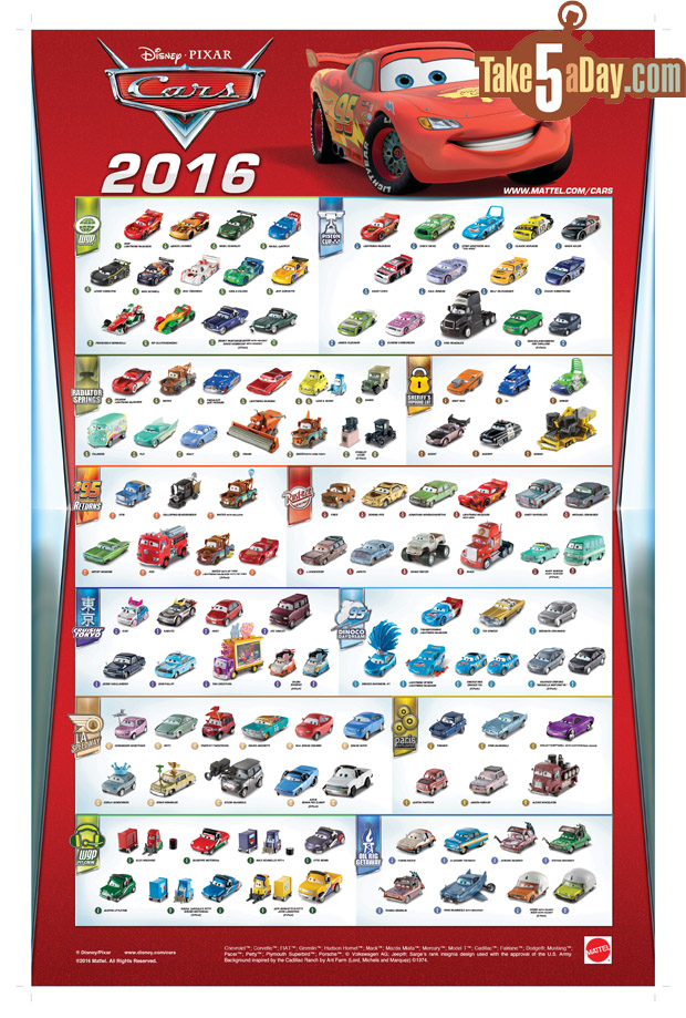 take five a day blog archive mattel disney pixar cars the clock tolls the 2016 poster is up. Black Bedroom Furniture Sets. Home Design Ideas