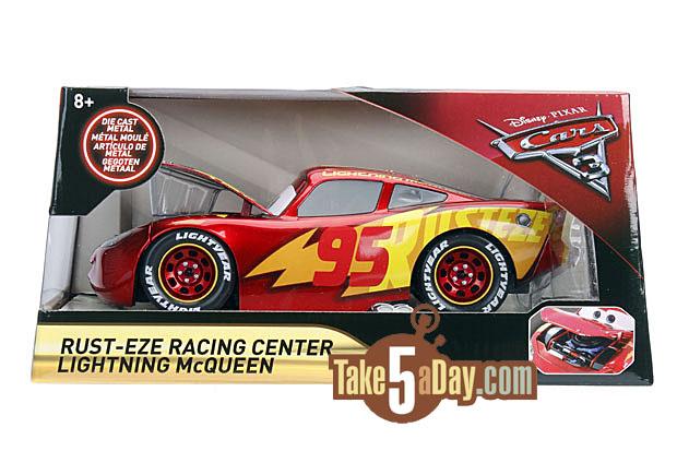 Mattel Disney Pixar Cars Lightning Mcqueen Rust Eze Racing