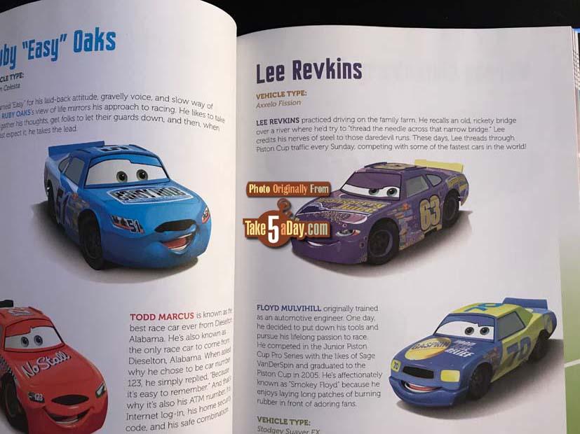 Cars movie diecast checklist