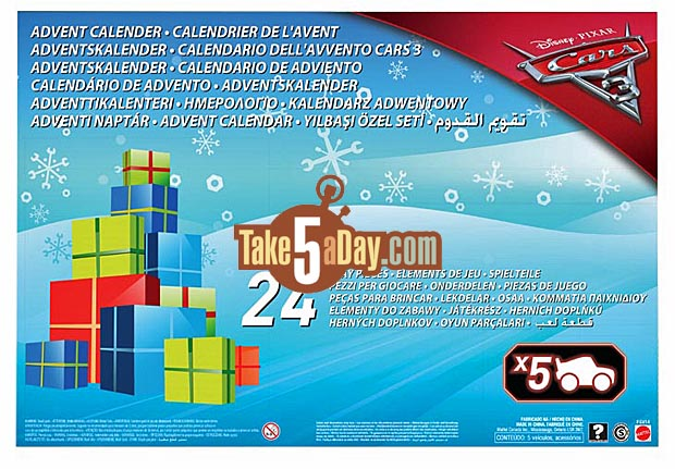 mattel disney pixar cars 3 the advent calendar of fun. Black Bedroom Furniture Sets. Home Design Ideas
