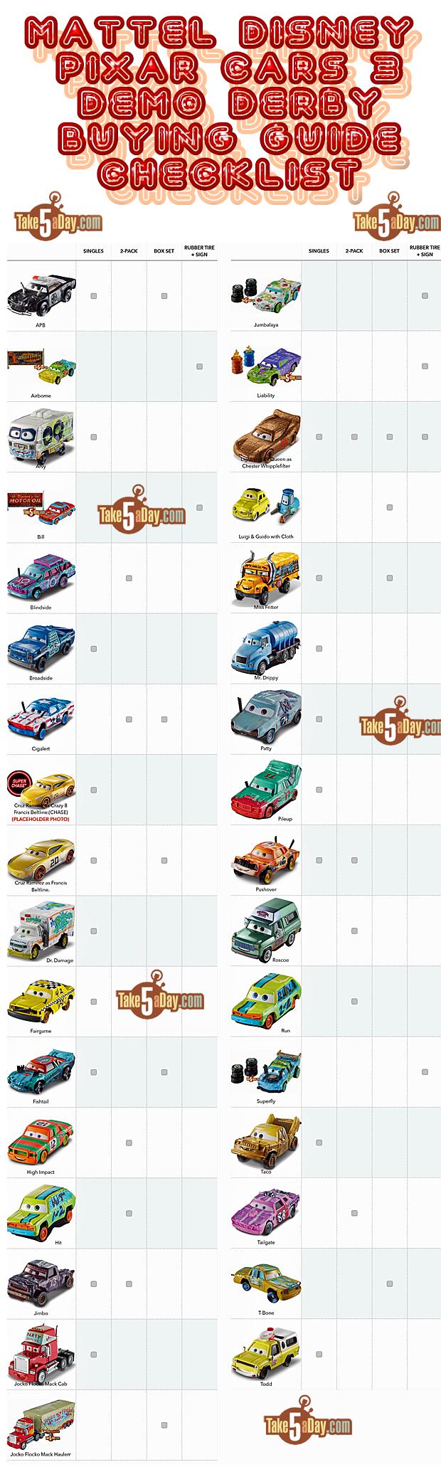 Mattel Disney Pixar CARS 3: Demo Derby Thunder Hollow Diecast ...