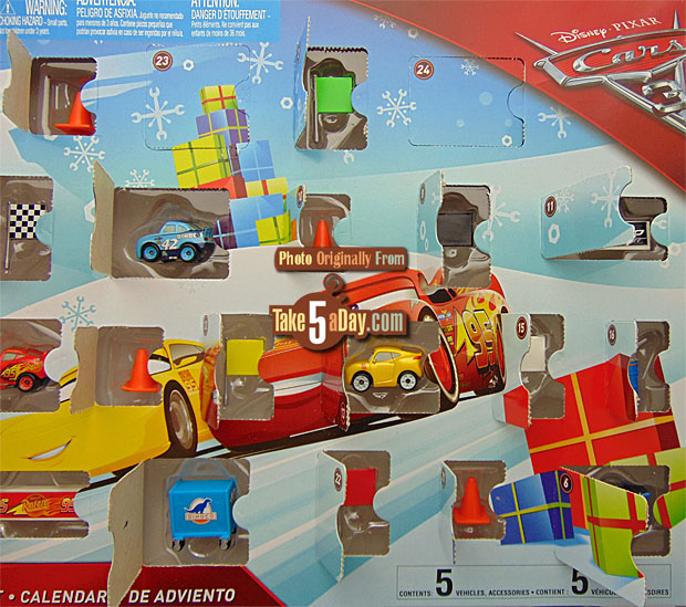 mattel disney pixar cars 3 metal mini advent calendar. Black Bedroom Furniture Sets. Home Design Ideas