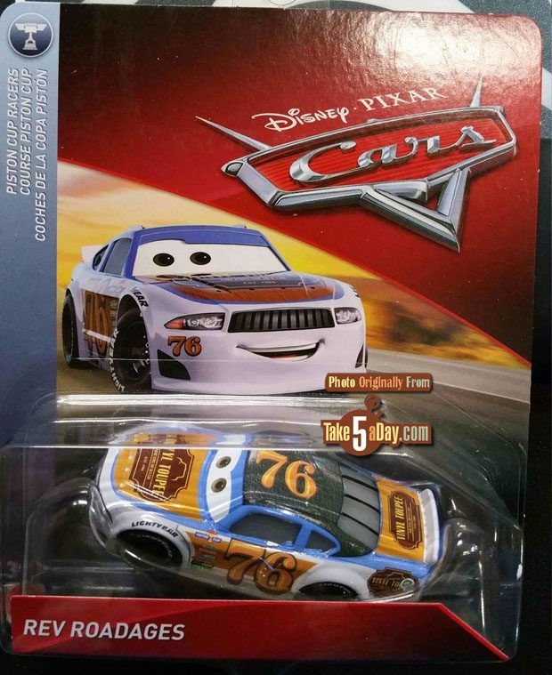Mattel Disney Pixar Cars Clipstrip Case C Take Five A Day