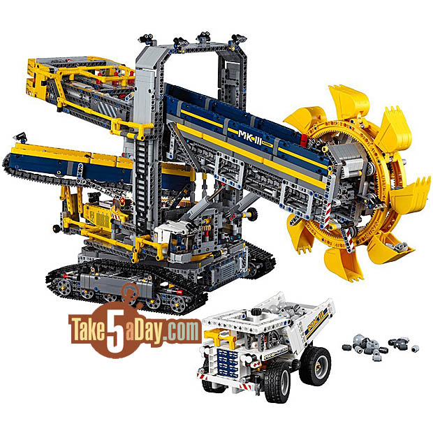 lego technic bucket wheel excavator amazing take five. Black Bedroom Furniture Sets. Home Design Ideas