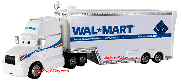 Mattel Disney Pixar Diecast CARS Walmart Mack Macks Only At WM