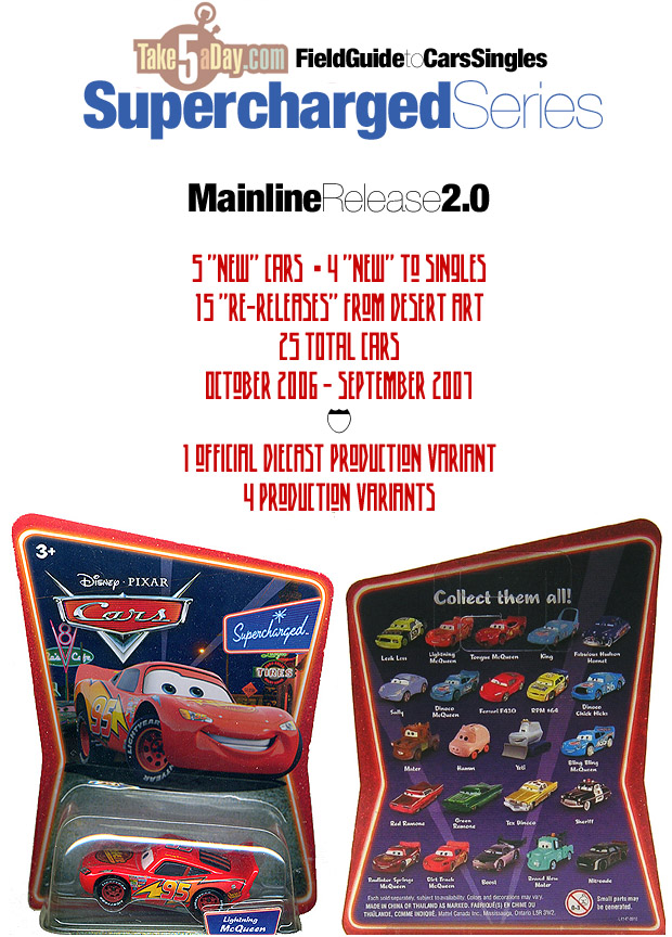 "DIRT TRACK McQUEEN Disney Pixar Cars Supercharged Collection 3/"" Vehicle 2006"