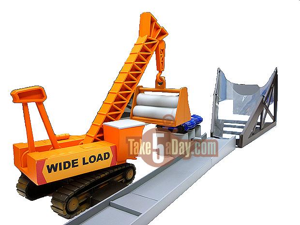 Crane with ramp