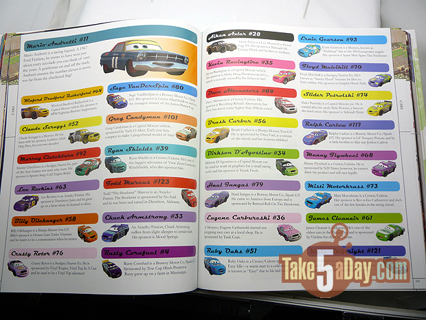 Take Five A Day Blog Archive Disney Pixar Cars Pixarpedia