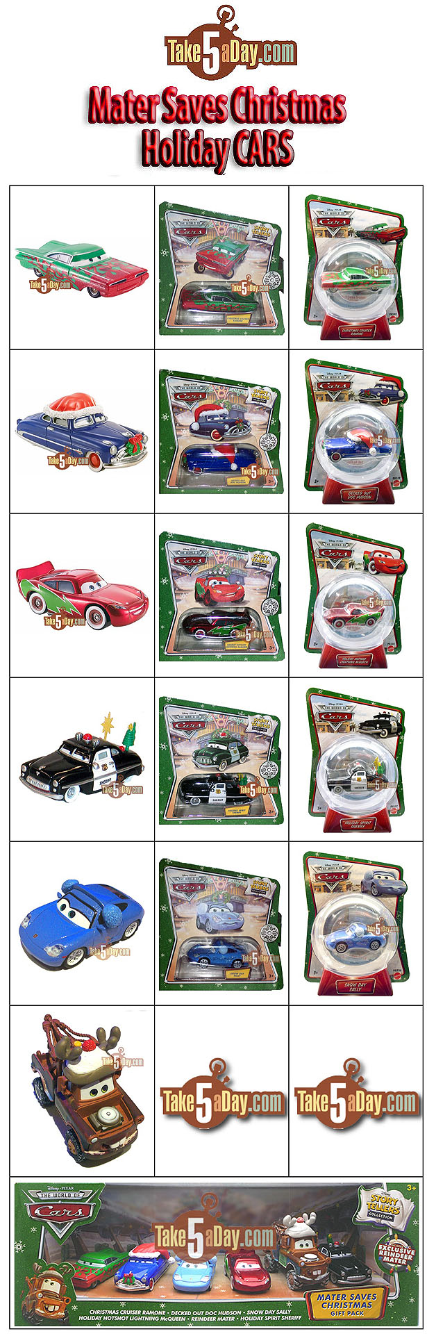 Disney Cars Christmas Clipart.Take Five A Day Blog Archive Mattel Disney Pixar Diecast