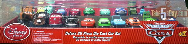 disney pixar cars disney store cars upgrade take five a day. Black Bedroom Furniture Sets. Home Design Ideas