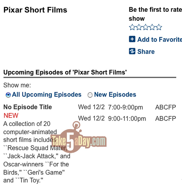 Pixar Short