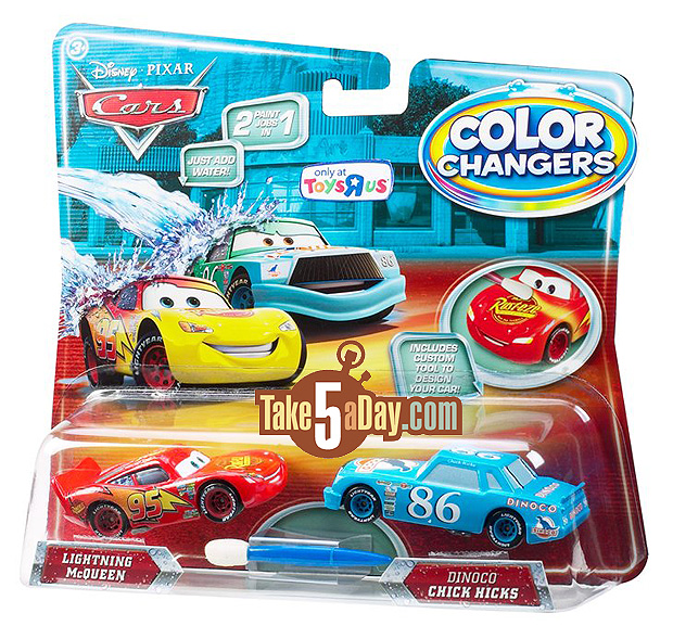 Take Five A Day Blog Archive Mattel Disney Pixar Diecast Cars Color Changers Four Times The Fun