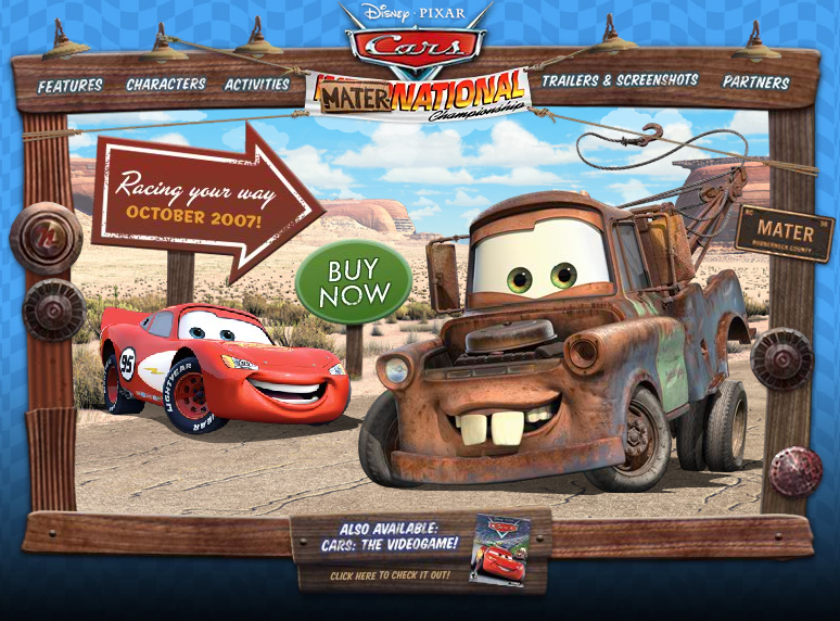 Take Five A Day Blog Archive Cars Mater National Video Game