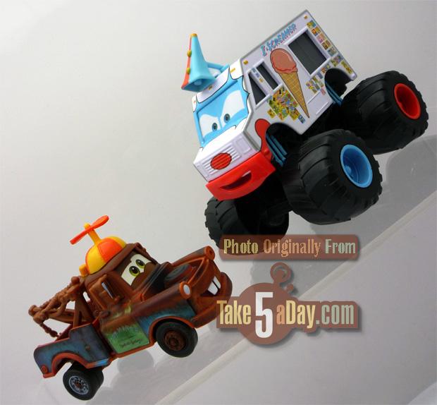 monster truck wrestling playset