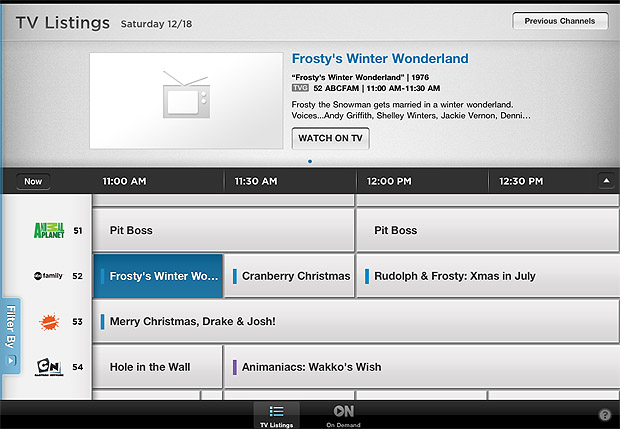 Take Five a Day » Blog Archive » Comcast Xfinity iPad App – Now