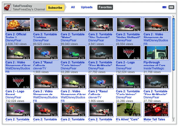 Take Five A Day Blog Archive Disney Pixar Cars 2 The Cars Of