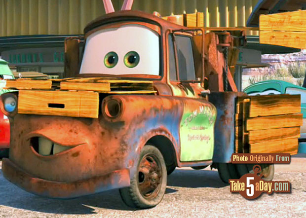 Disney Pixar Cars Mater with cone teeth