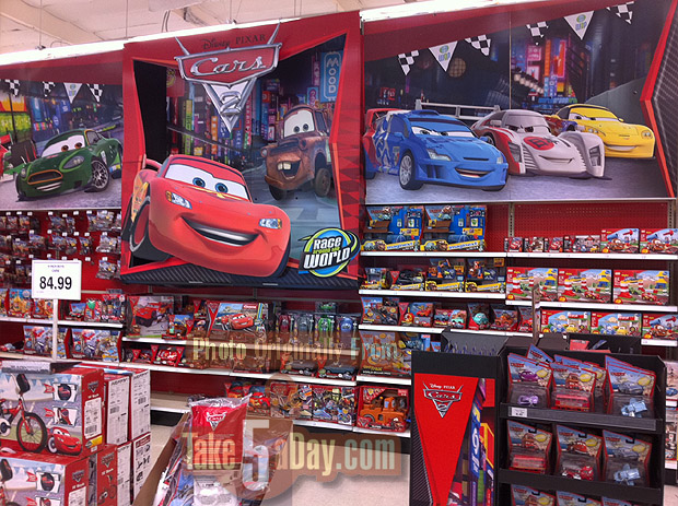 Take Five A Day Blog Archive Mattel Disney Pixar Diecast Cars 2 The Tru Wall Is Up Cars 2 Movie Cash