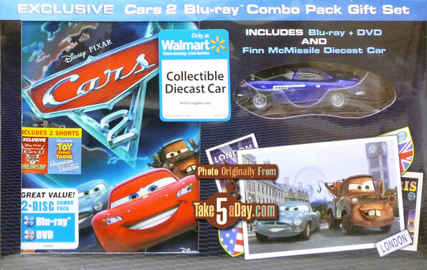 Take Five A Day Blog Archive Disney Pixar Cars 2 The Dvd Blu